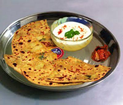 Aloo paratha tasty and fresh