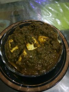 Best home made palak paneer in udaipur