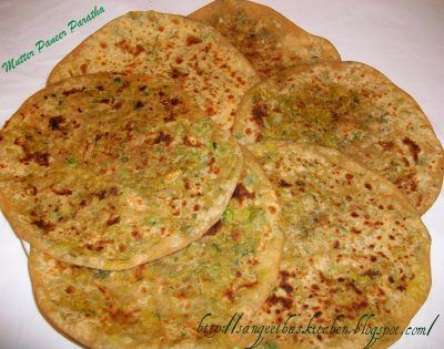 best homemade matar parantha