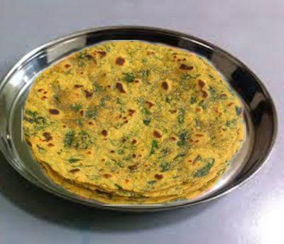 Famous methi-palak paratha