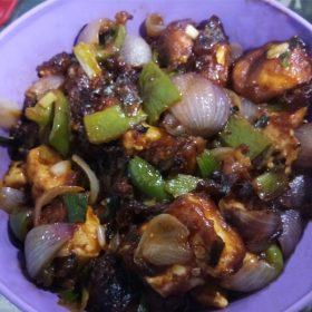 tasty paneer chilli homemade